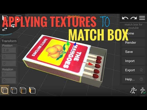 Prisma 3D : Applying Texture to Match Box || MP Studios