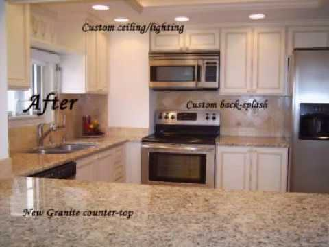 Kitchen Cabinets Refacing Before And After cabinet refacing before & after photos - youtube