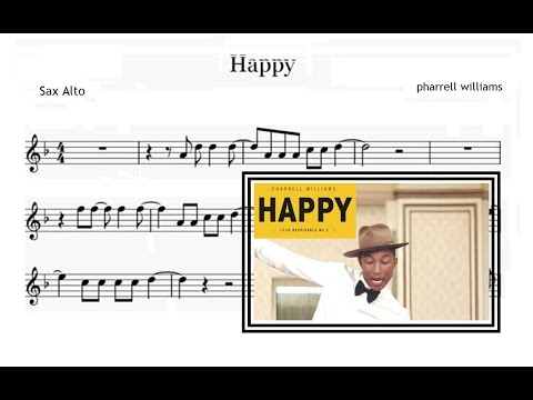 Happy - Pharrell Williams (Sheet Music Alto Saxophone)