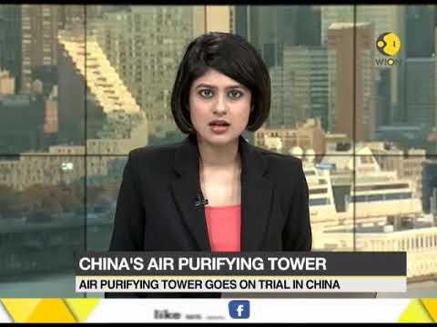 China's air purifying tower