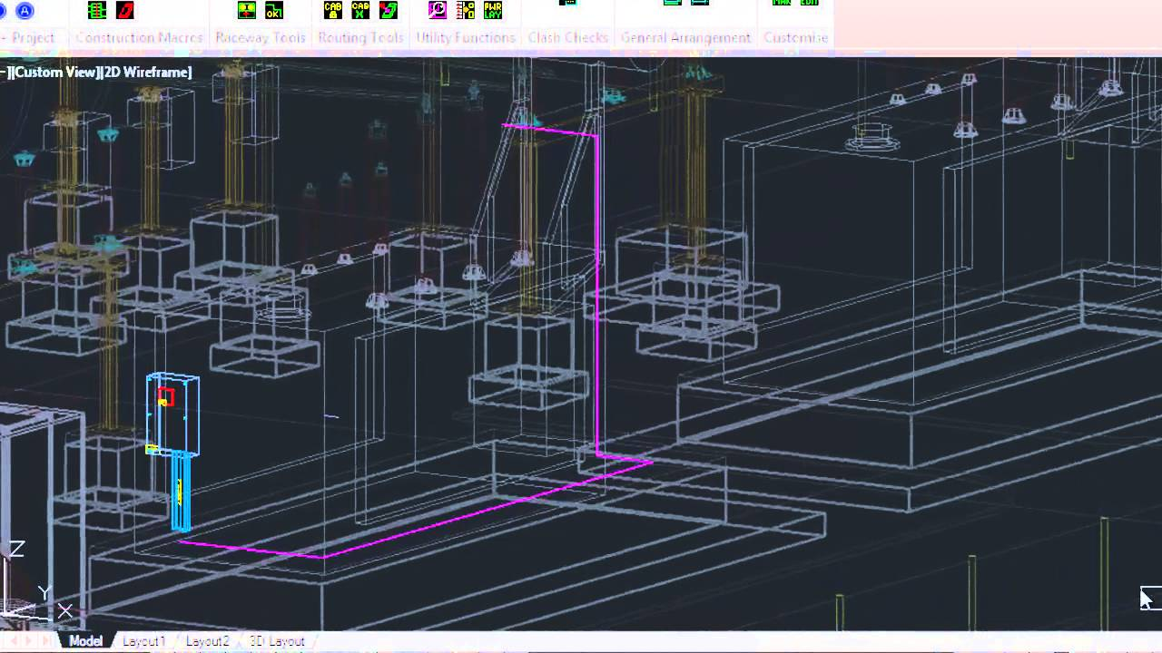 Substation Design – 3D Raceway and Cable Routing  YouTube
