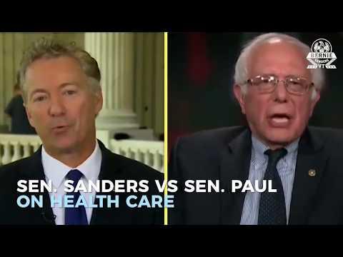 Sen  Rand Paul Vs  Sen  Sanders On Health Care