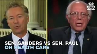 Gambar cover Sen  Rand Paul Vs  Sen  Sanders On Health Care