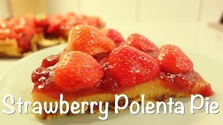 Strawberry Polenta Pie (vegan)
