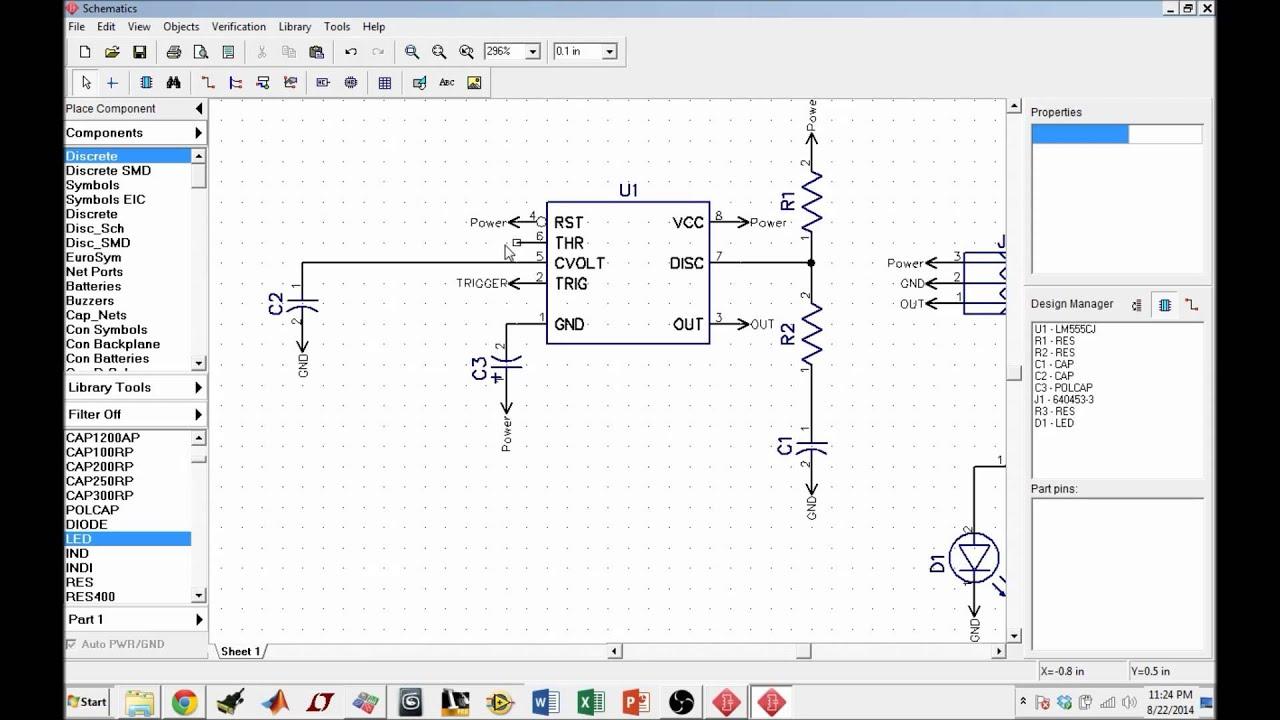 pcb design using diptrace pt 2 organizing schematics [ 1280 x 720 Pixel ]