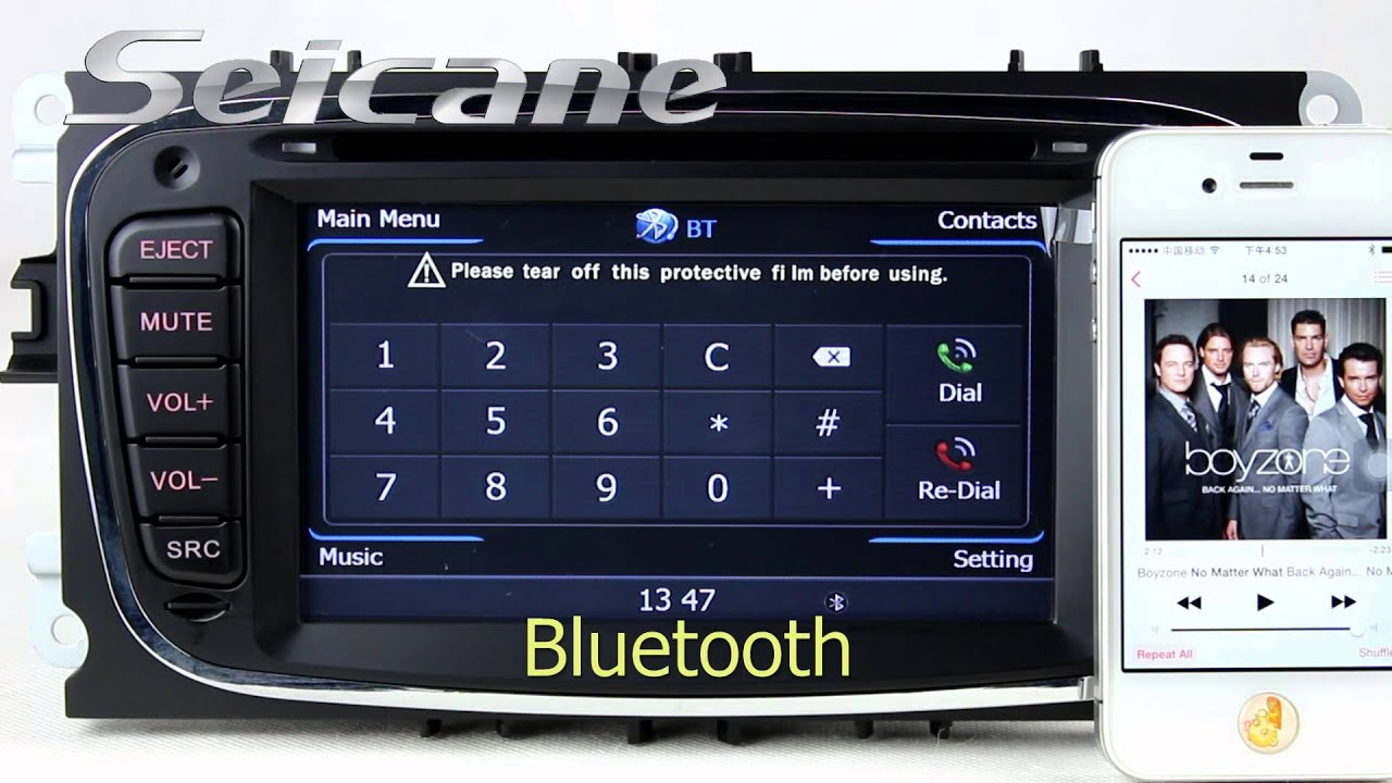2009 2010 Ford Focus Aftermarket Stereo Navigation System With Bluetooth Music Usb Sd Aux
