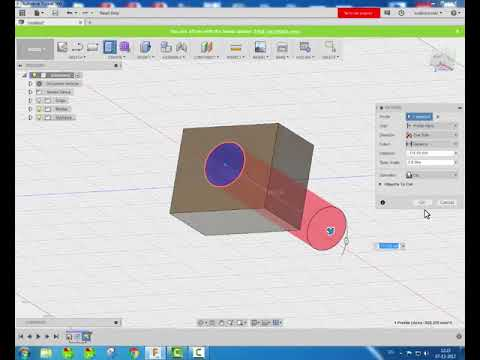 Autodesk Fusion 360 Tutorial     How To Do Extrude Cut In Autodesk Fusion  360