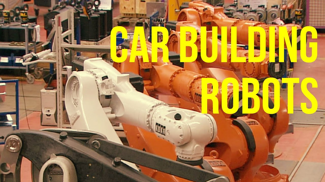 Car building robots production kuka plant youtube for Production builder