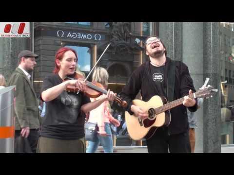 ★ Folk Duo «Sona» Mona & Zris (Austria). Vienna Street Performers by RussianAustria (FHD)