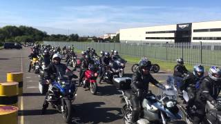 2015 Ride In - Bikes leaving Triumph HQ