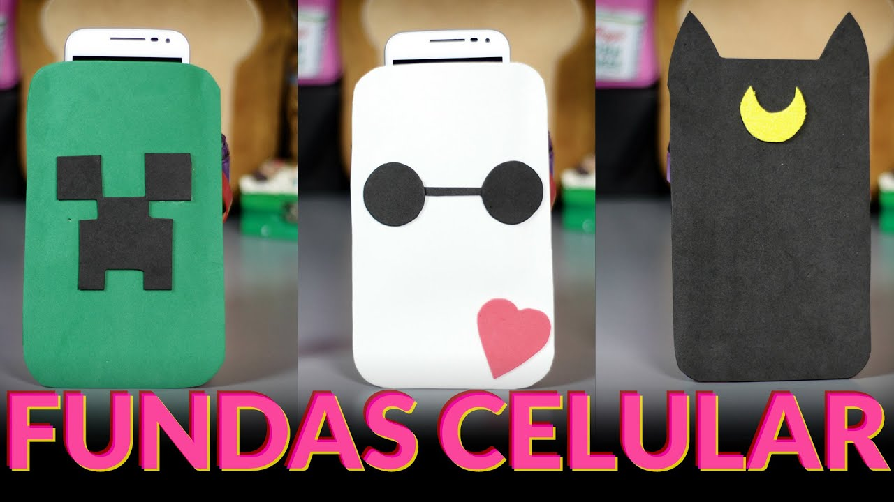 Manualidades con goma eva fundas para celulares fundas - Fundas de goma eva ...