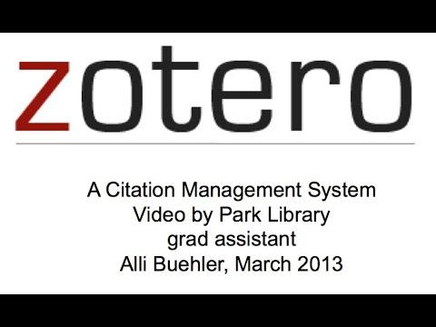 Using Zotero