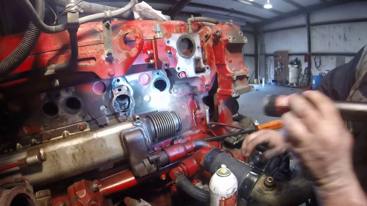 ISX Engine re build PT12 Exhaust Manifold and Thermostat base by Rawze