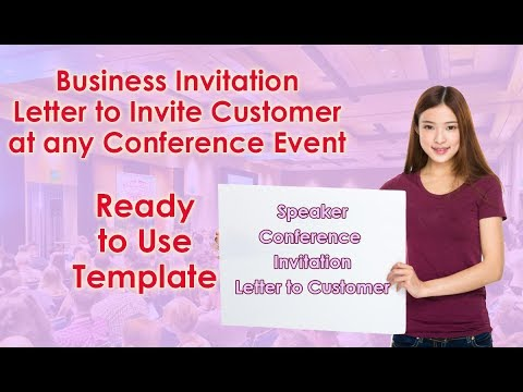 Invitation To Invite Customer For Any Conference Event