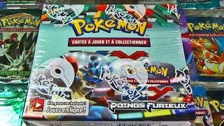 Lot de 4 Boosters Vides Proprement Ouvert XY3 Poings Furieux VF COLLECTION