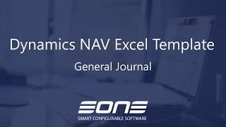 Excel Integration with Dynamics NAV - General Journal