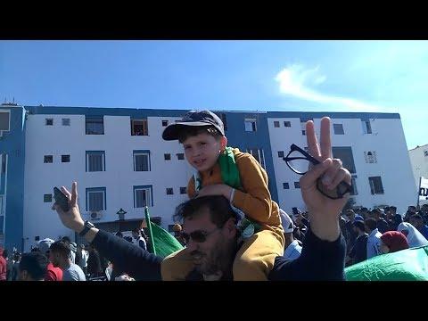 مسيرة سلمية في غليزان ضد العهدة الخامسة 1 مارس 2019       ville de Relizane
