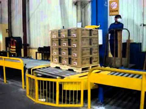 automatic online pallet wrapping machine