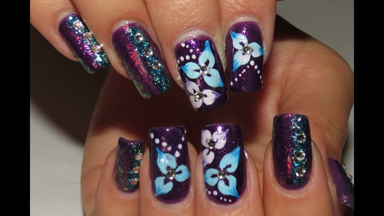 Nail Art Ideas Nail Art Blue And Pink Pictures Of Nail Art