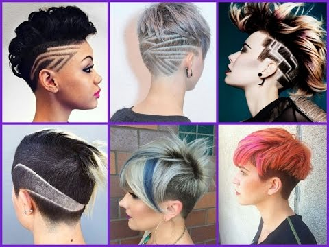 25 cute undercut for girls  trendy haircuts 2018  youtube