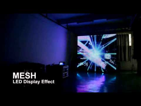 P50mm mesh led curtain display spot light 200mm for stage effects