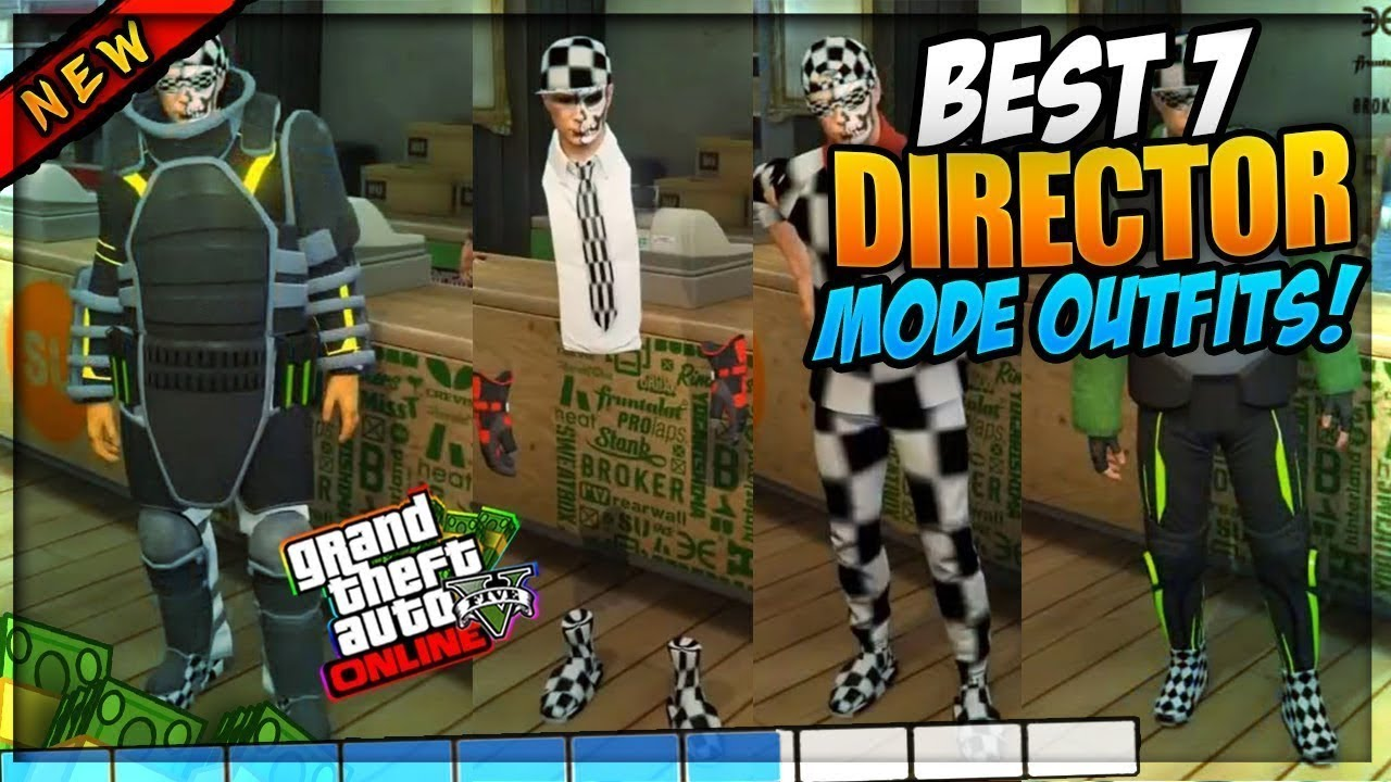 *BEST TOP u2018DIRECTOR MODEu2019 MODDED OUTFITS GTA 5 ONLINE 1.40! 7 Rare REAL Modded Outfits You MUST ...