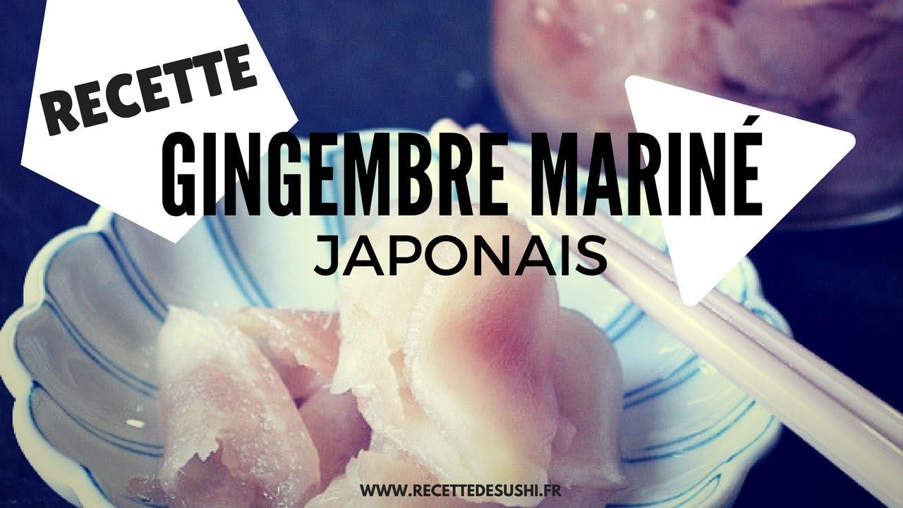la recette du gingembre mariné japonais fait maison - youtube