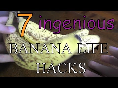 7 INGENIOUS Banana Life Hacks (Joke)