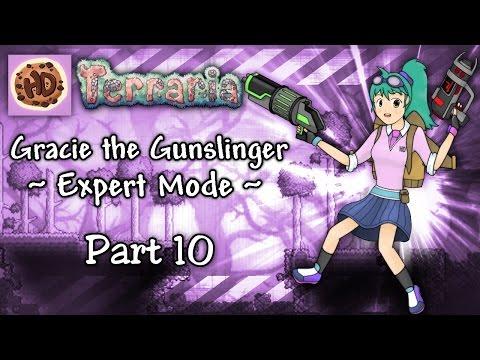 Terraria 1.3 Expert Gunslinger Part 10 | Shotgun, Assault Rifle and Fails! | Let's Play