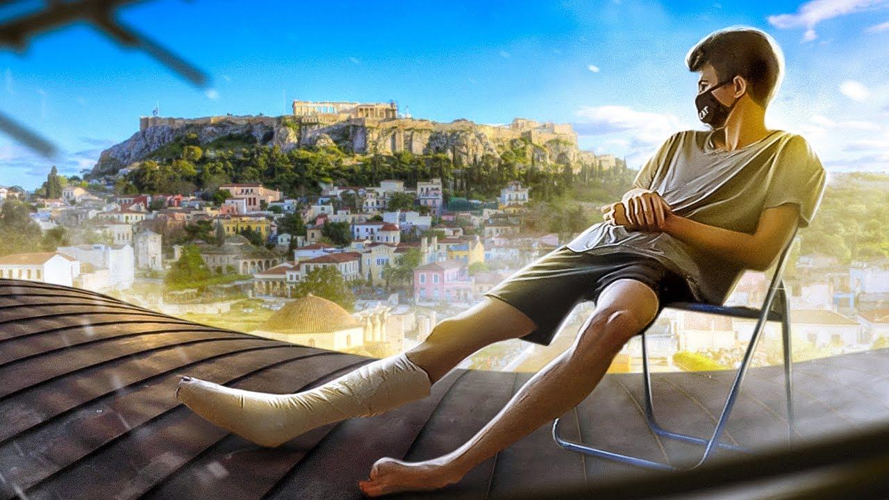 Download Explored Athens and BROKEN LEG. UNSUCCESSFUL URBAN EXPLORATION.