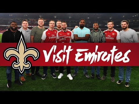 'I'M ROOTING FOR ARSENAL' | NFL's New Orleans Saints visit Emirates Stadium