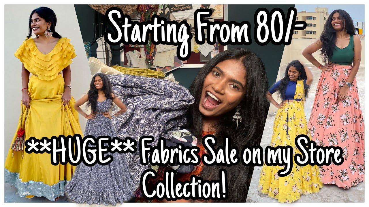 **HUGE** Fabrics Sale on my Store Collection? | Online Fabrics SALE | nayalooks | Navya Varma