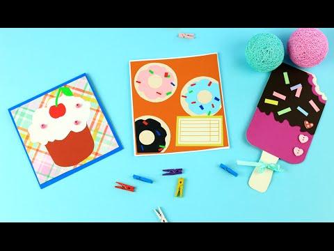 Как сделать открытку со сладостями своими руками