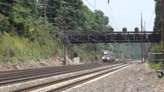 Amtrak Keystone and Pennsylvanian Trains and SEPTA on the Paoli Thorndale Line in HD