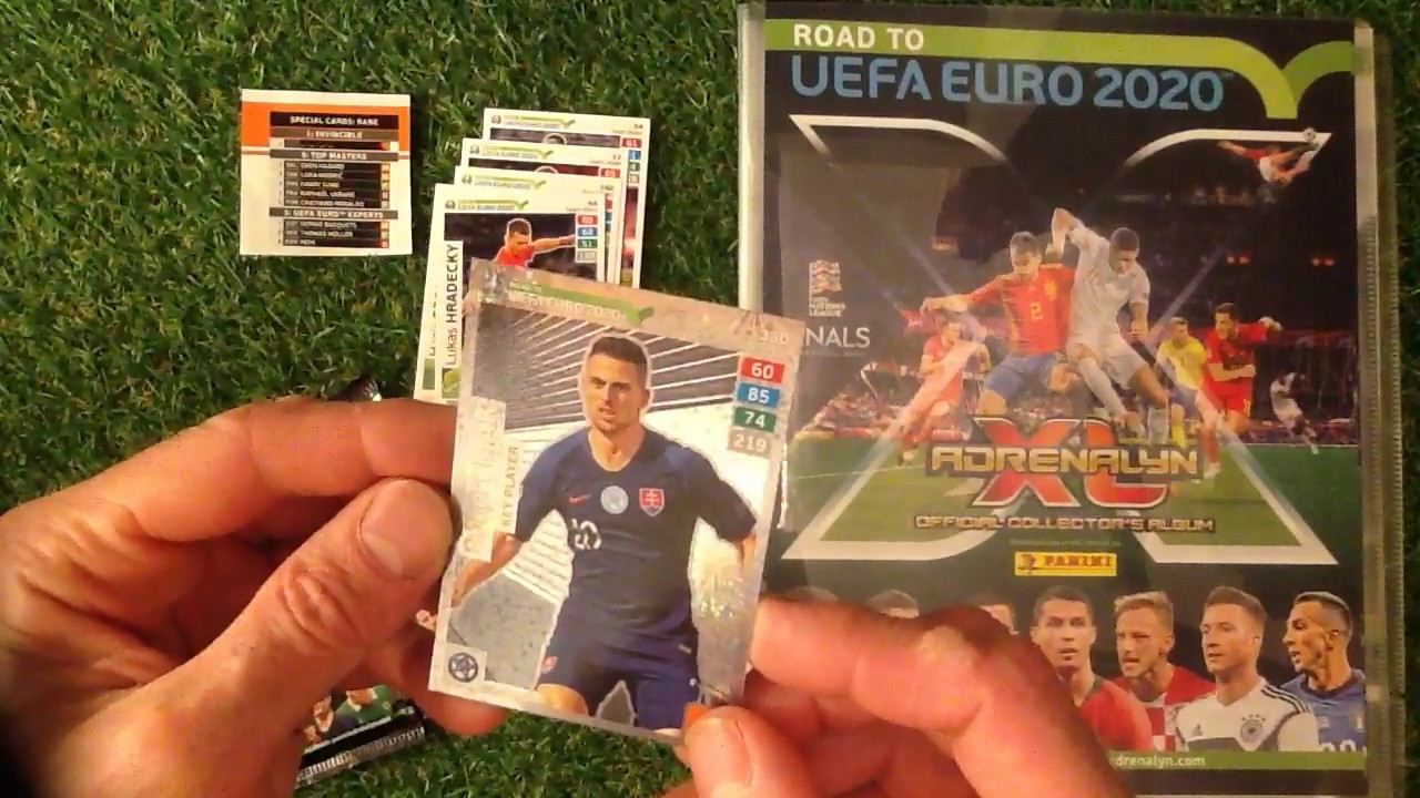 1 X gold Booster Panini Road to Euro 2020 Adrenalyn XL 5 x Booster premium