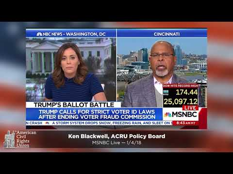 Ken Blackwell on Disbanding the Election Integrity Commission