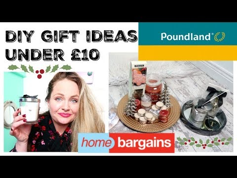 CHRISTMAS HOME BARGAINS / POUNDLAND HAUL / DIY GIFT IDEAS UNDER £10/ Budget hampers, cheap presents