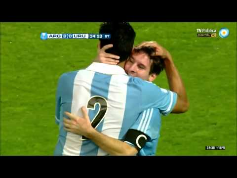 Gol de Messi (Argentina 3 - 0 Uruguay) Eliminatorias Brasil 2014 [HD]