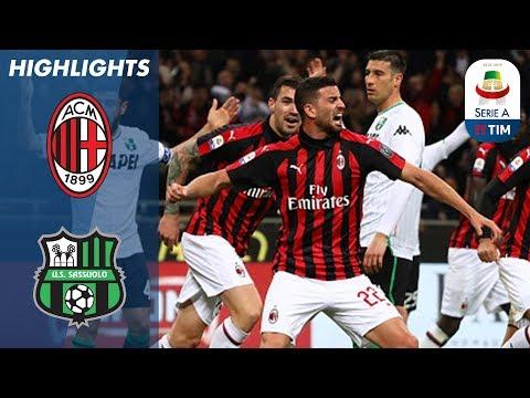 Milan 1-0 Sassuolo | Consigli Sent-Off As Milan Beat 10-Man Sassuolo  | Serie A