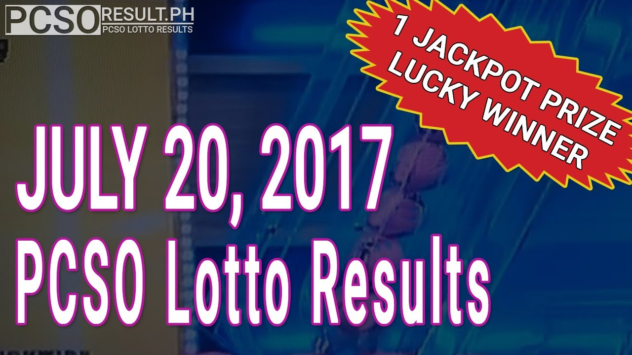 PCSO Lotto Results Today July 20, 2017 (6/49, 6/42, 6D, Swertres & EZ2)