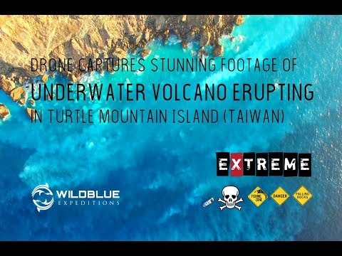 Drone captures stunning footage of underwater volcano erupting in Turtle Mountain Island (Taiwan)