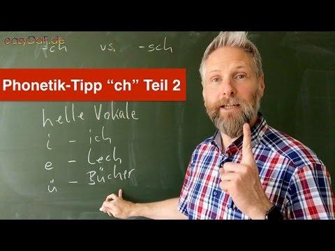 Deutsch lernen mit Flüchtlingen - Phonetik-Tipp -ch, Teil 2