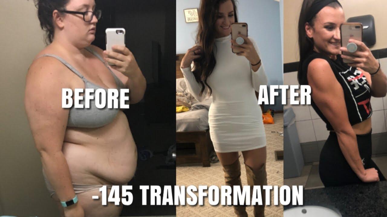 Massive weight loss transformation