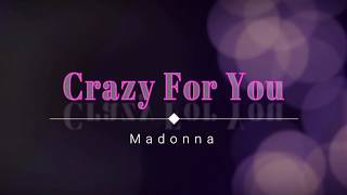 Madonna - Crazy For You (Lyric Video) [HD] [HQ]