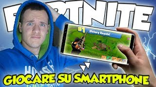 📱 FORTNITE ON SMARTPHONE IOS/ANDROID Royal Battle Gameplay ITA Playing Fortnite From the Phone