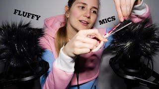 ASMR Fluffy Mic Triggers | Brushing, Massage, Touching, Blowing