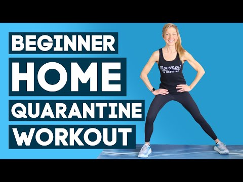 Beginner Strength At Home Workout (No Equipment) - Quarantine Workout