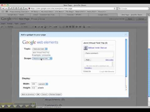 Adding A Comment Box On Google Sites Page