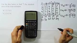 Finding the Standard Eŗror of the Slope Estimator for a LSRL