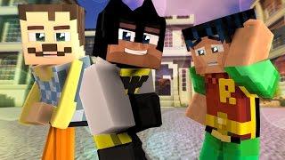 The Neighbor Teams Up With Batman & Robin? - Minecraft Hello Neighbor Roleplay